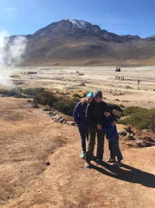Family with geysers