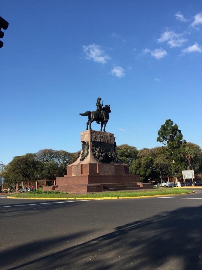 A favorite statute near Tres Febrero.