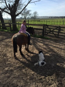 Dogs and horses, what else can a kid want?